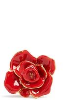 Oscar de la Renta Rosette enamel-painted ring