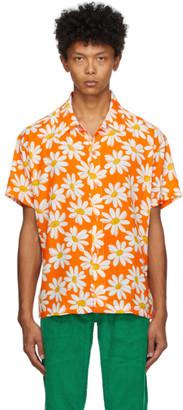 ERL Orange Daisy Short Sleeve Shirt