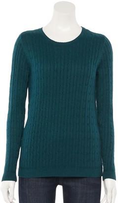 Croft & Barrow Women's The Classic Crewneck Sweater