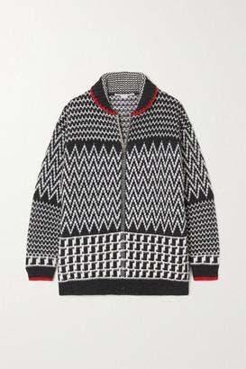 Stella McCartney Intarsia Wool Jacket - White