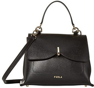 Furla Ribbon Medium Top-Handle (Nero) Handbags