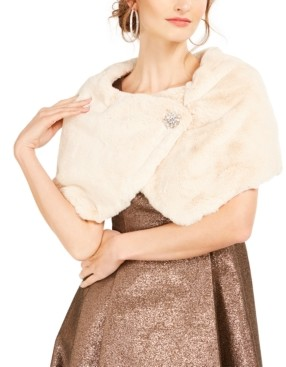 Tahari ASL Faux-Fur Shrug Jacket, Created for Macy's