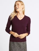 Marks and Spencer Lambswool Rich V-Neck Jumper