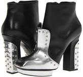 Alexander McQueen Metal Beads Boots (Nappa) (Silver/Black) - Footwear