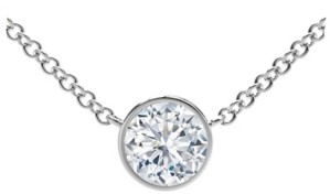 Forevermark Tribute Collection Diamond (1/5 ct. t.w.) Necklace with Mill-Grain in 18k Yellow, White and Rose Gold