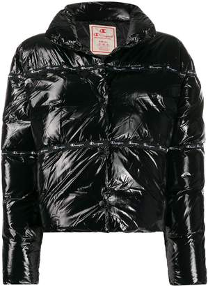 Champion vinyl padded jacket