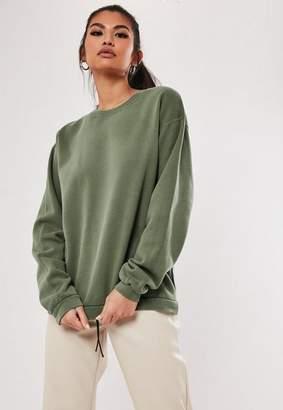 Missguided Slogan Washed Sweatshirt