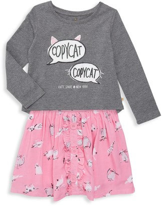 Kate Spade Little Girl's 2-Piece Copycat Skirt Set