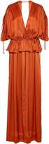 Loup Charmant Athena Front-Slit Silk Gown