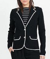 Lauren Ralph Lauren Stretch Cotton Sweater Contrasting-Trim Blazer