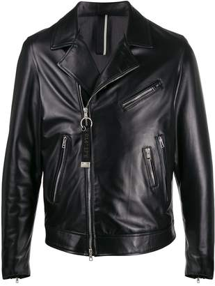 Low Brand regular-fit biker jacket