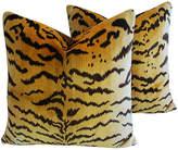 One Kings Lane Vintage Scalamandré Le Tigre/Mohair Pillows