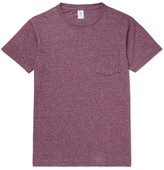 Velva Sheen Slim-fit Mélange Cotton-blend Jersey T-shirt - Burgundy