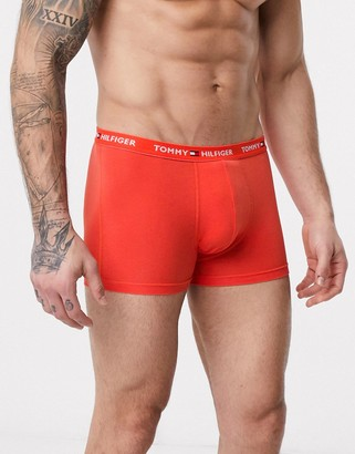 Tommy Hilfiger flag waistband trunks in orange