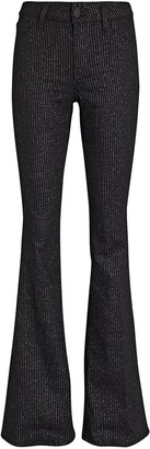 L'Agence Bell Flare Pinstripe Jeans