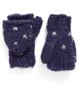 Rebecca Minkoff Women's Heart Stitch Pop Top Mittens