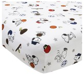 Bedtime Originals Peanuts Crib Sheet - Snoopy Sports