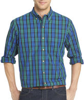 Izod Long-Sleeve Tartan Plaid Shirt