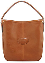 Longchamp Mystery Leather Hobo Bag, Cognac
