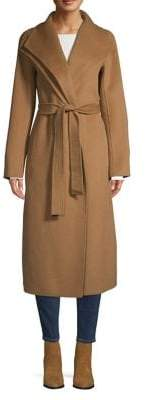 Tahari Double Wing Collar Wrap Coat