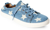 Steve Madden Blue Jane Denim Lace-Up Sneakers