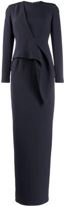 Safiyaa London draped front dress