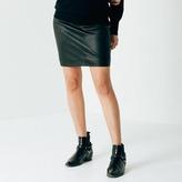 DSTLD Womens Leather Skirt in Black