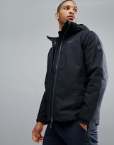 Jack Wolfskin Chilly Morning Hooded Jacket In Black