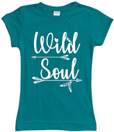 Urban Smalls Peacock 'Wild Soul' Fitted Tee - Toddler & Girls