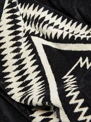 Pendleton Los Ojos Large Cotton-terry Beach Towel - Black