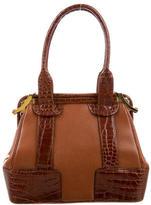 Judith Leiber Crocodile & Leather Handle Bag