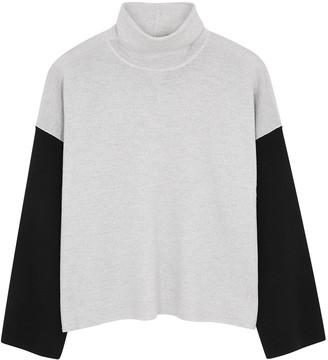 Eileen Fisher Colour-block roll-neck wool jumper