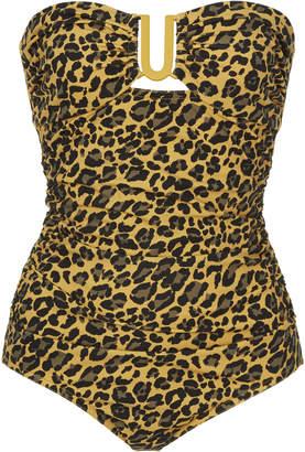 Zimmermann Separates Cheetah-Print One-Piece Swimsuit