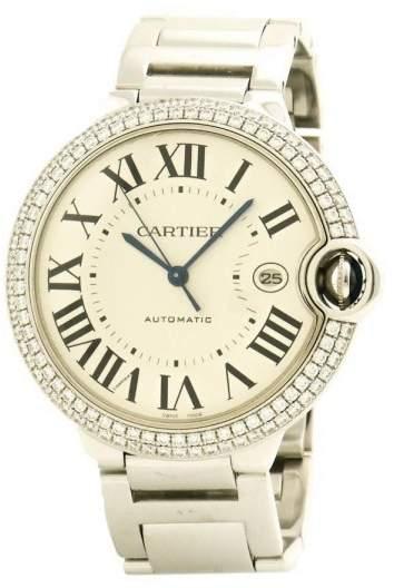 Cartier Ballon Bleu WE9009Z3 18K White Gold wDiamonds Automatic 42mm Men's Watch