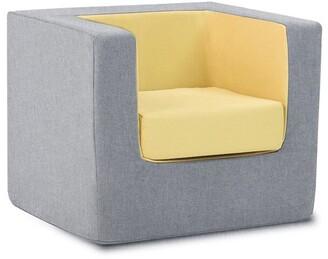 Monte Cubino Kid's Size Chair Nordic Grey/Yellow