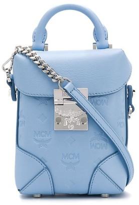 MCM Logo Embossed Tote Bag