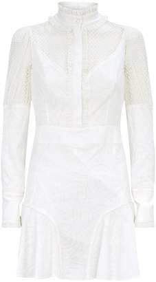 Alexis Madilyn Sheer Puff Sleeve Dress