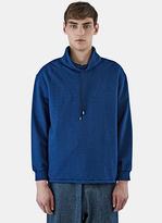 J.w. Anderson Men's Funnel Neck Jersey Sweater In Blue