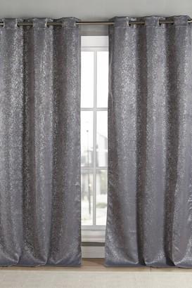 Duck River Textile Maddie Metallic Specks Blackout Curtain Set - Grey