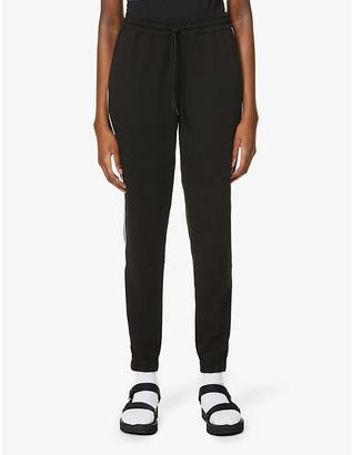 Calvin Klein Logo-trim mid-rise stretch-jersey jogging bottoms