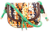 M Missoni Embossed Leather Shoulder Bag