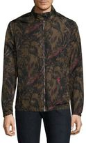 Salvatore Ferragamo Foliage Print Reversible Nylon Jacket