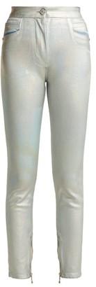 Balmain High-rise Straight-leg Jeans - Silver