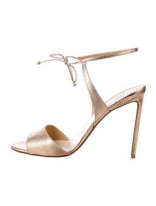 Francesco Russo Leather Sandals Gold