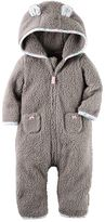 Carter's Baby Girl Sherpa Hooded Coverall