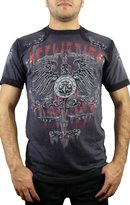 Affliction Secure Short Sleeve T-Shirt XL Charcoal