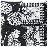Temperley London Rooster blanket scarf