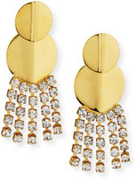 Lizzie Fortunato Imperial City Crystal Chain Earrings