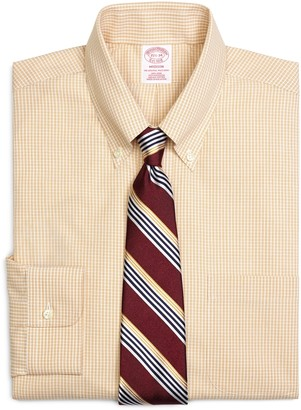 Brooks Brothers Madison Classic-Fit Dress Shirt, Non-Iron Micro Check
