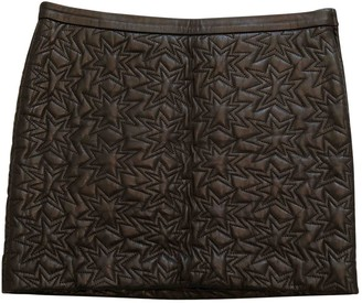 Mauro Grifoni Black Leather Skirt for Women